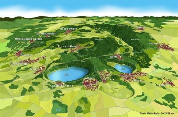 i comuni del parco dei castelli romani